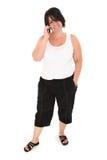 四十老妇人年 免版税库存照片