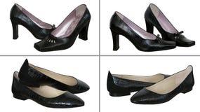 四双对鞋子 免版税库存图片