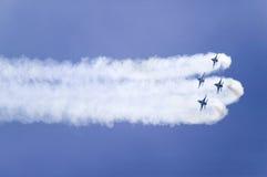 四只美国空军F-16C战斗的猎鹰 库存照片