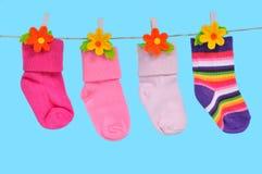 四只袜子字符串 库存图片