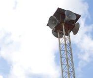四台减速火箭的扩音器 库存照片