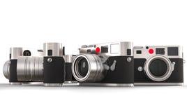 四台减速火箭的样式照片照相机 免版税库存图片