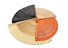 四台色的风扇的收集 免版税图库摄影