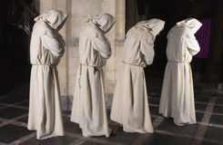 四名修士连续 图库摄影