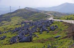 四国石灰岩地区常见的地形 库存图片