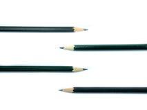 四在白色背景的铅笔 免版税库存图片