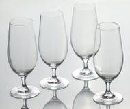 四块空的玻璃 免版税库存图片