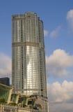 四季旅馆国际金融中心IFC复杂香港Admirlty中央金融中心地平线摩天大楼 免版税图库摄影