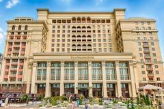 四季旅馆的门面在莫斯科,俄罗斯 免版税库存图片