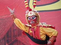 四川歌剧的改变的面孔 免版税库存图片