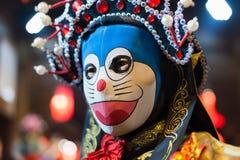 四川歌剧面孔改变的艺术家 免版税库存照片