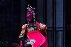四川歌剧面孔 免版税图库摄影