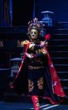 四川歌剧面孔 免版税库存照片