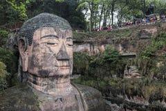 四川的乐山大佛在中国 免版税图库摄影