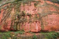 四川蜀国南竹海域三十六大石头 库存照片