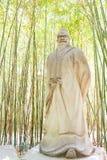 四川,中国- 2015年3月28日:在Zhaohua Ancien的庞统雕象 库存图片