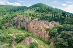 四川,中国- 2014年9月14日:Huanglian地球森林每著名l 库存图片