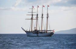 四帆柱船 库存照片