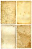 四张明信片葡萄酒 库存照片
