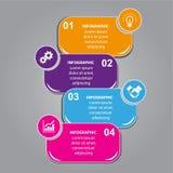 四张步信息图表 向量例证