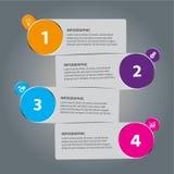 四张步信息图表 皇族释放例证