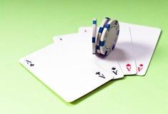 四张相同的牌 免版税库存图片