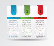 四张纸进展卡片。 免版税库存图片