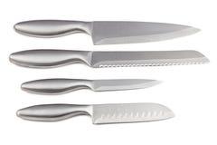 四把厨刀照片  图库摄影