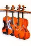 四把小提琴 库存照片