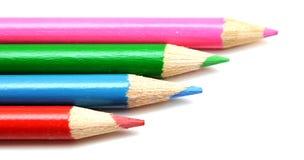 四支五颜六色的铅笔 免版税图库摄影