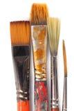 四支坏的画笔 免版税库存照片