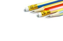 四支木锋利的铅笔 库存照片