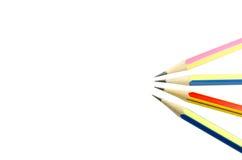 四支木锋利的铅笔 库存图片