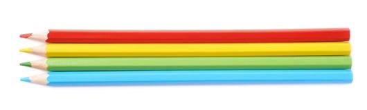 四支被隔绝的画的铅笔构成 免版税库存照片