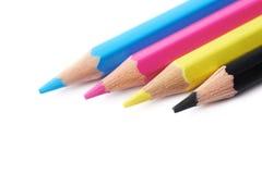 四支被隔绝的画的铅笔构成 库存图片