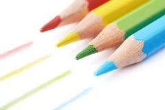 四支被隔绝的画的铅笔构成 免版税库存图片