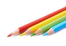 四支被隔绝的画的铅笔构成 图库摄影