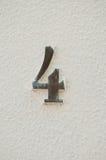 四数字标志 免版税库存图片