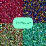四无缝的五颜六色的样式集合 免版税图库摄影