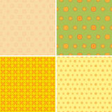 四无缝的墙纸样式 免版税库存照片