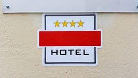 四星级旅馆标志 免版税库存照片