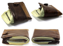 四有金钱的钱包 免版税库存图片