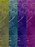 四朵颜色花纹理 库存图片