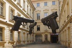 四杆巨大的枪 免版税库存照片