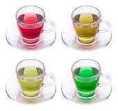 四杯茶 免版税库存图片