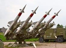 四枚导弹 库存图片