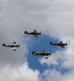 四架战斗机 库存图片