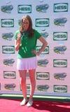 四次奥林匹克金牌获得者游泳者蜜茜・富兰克林出席亚瑟・阿什孩子天2013年在国家网球中心 免版税图库摄影