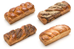 四种类大面包牛奶 免版税库存照片