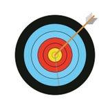 四种颜色与箭头的传染媒介目标 库存照片